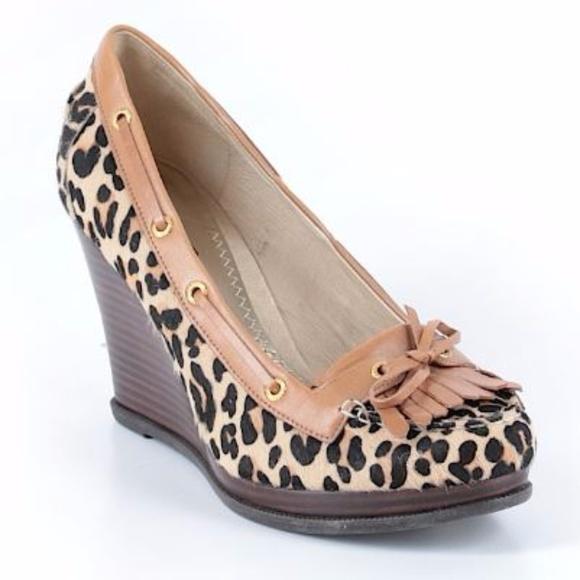 Sperry Shoes   Leopard Wedge Sperrys